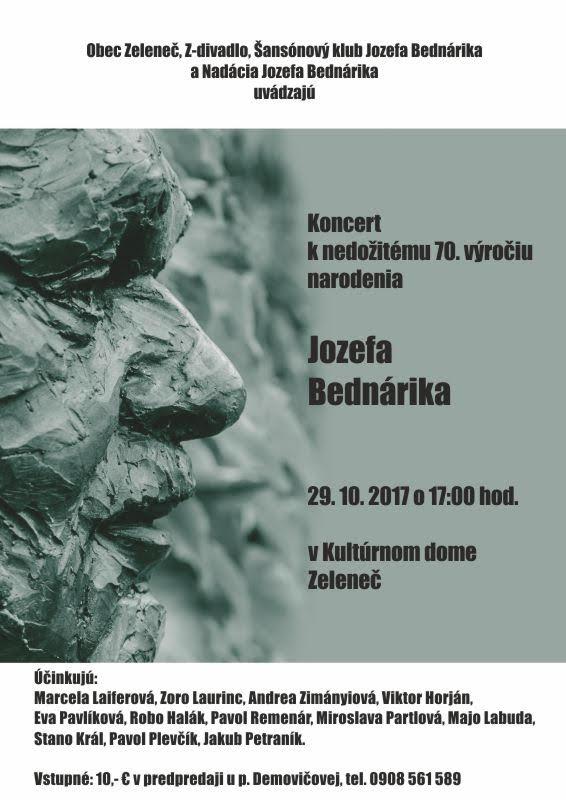 Koncert k nedožitému 70. výročiu narodenia Jozefa Bednárika 1
