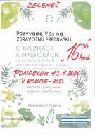 Prednáška o bylinkách a mastičkách 1